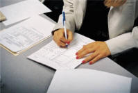 hr person doing payroll processing - image